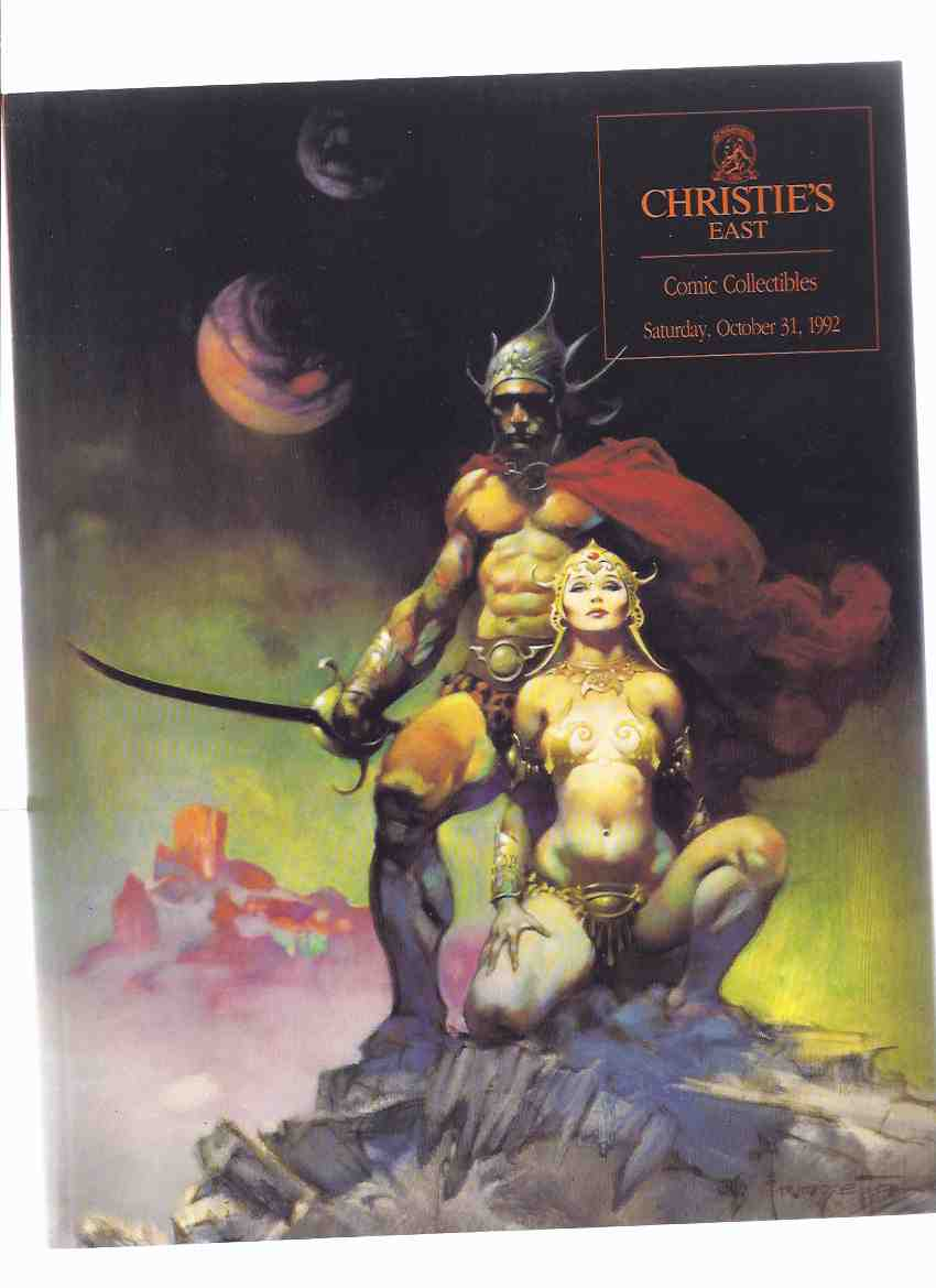 Image for Christie's East Comic Collectibles, Sunday October 31, 1992 --- Auction Catalogue (cover Art By Frank Frazetta Showing Mastermind / Fighting Man of Mars Cover for the John Carter of Mars Book Club Series )(includes Results Sheet )