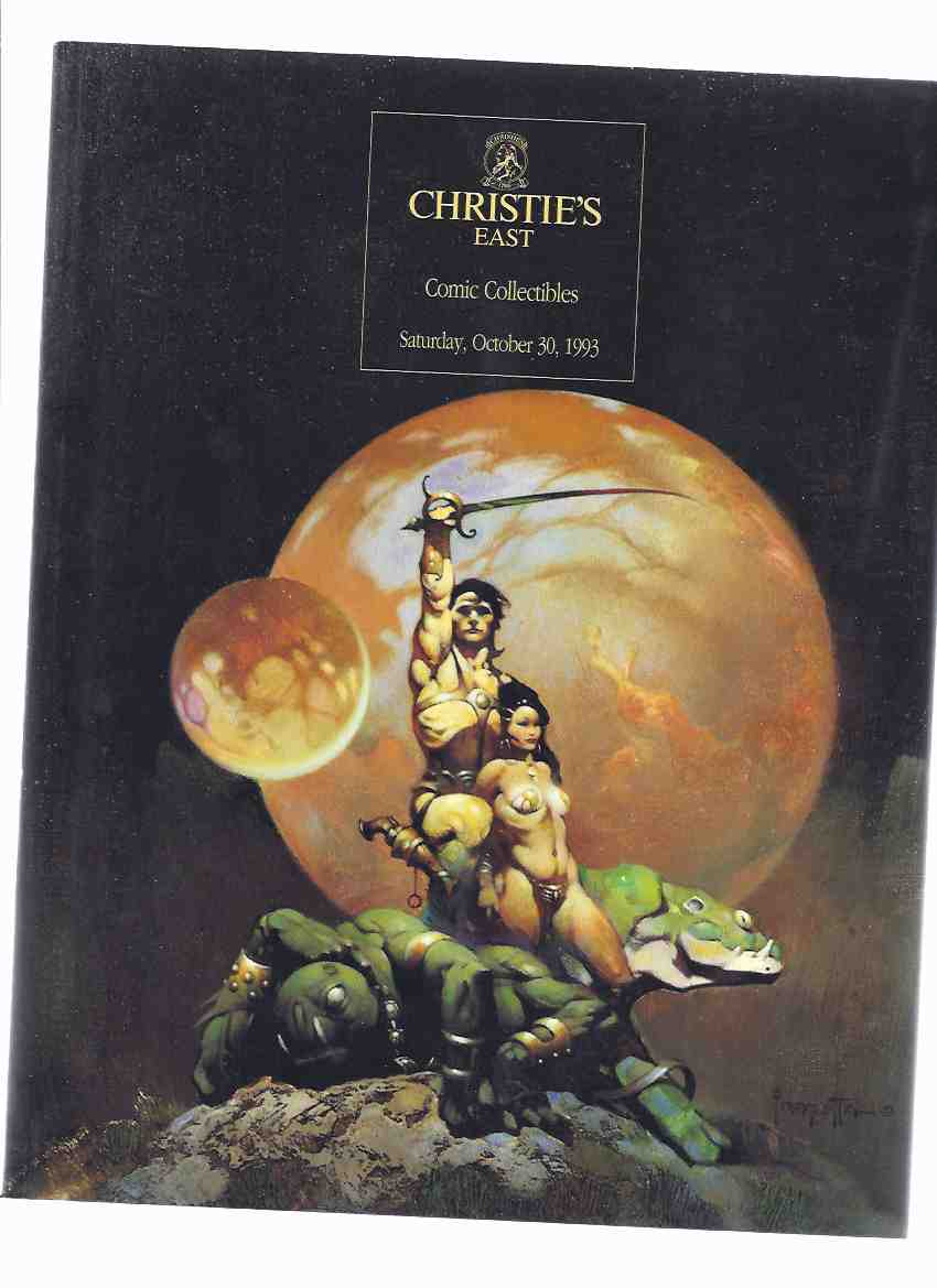 Image for Christie's East Comic Collectibles, Saturday October 30, 1992 --- Auction Catalogue (cover Art By Frank Frazetta Showing The Princess of Mars Cover for the John Carter of Mars Book Club Series )(includes Results Sheet )