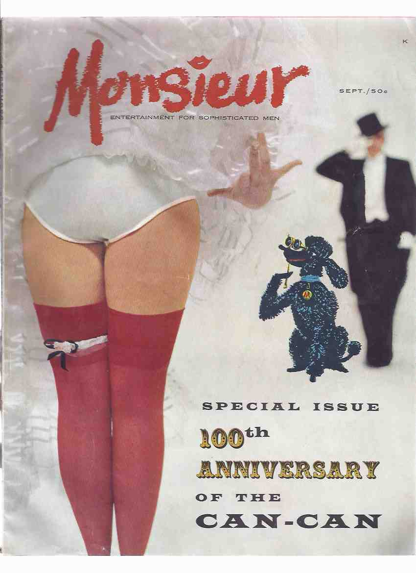 Image for Monsieur: Special Issue - 100th Anniversary of the Can-Can , Volume 2, # 4, September ( 1959 ) ( Men's Magazine )