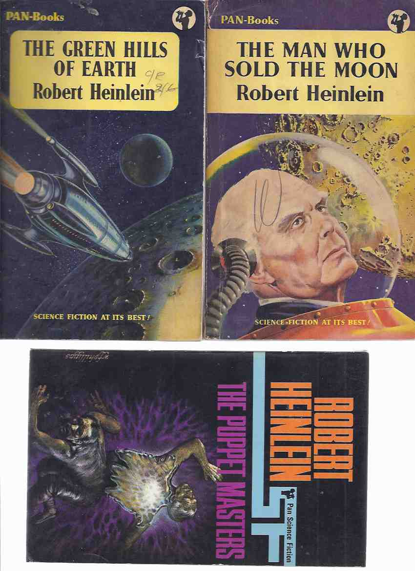 Image for The Man Who Sold the Moon ---with The Green Hills of Earth ---with The Puppet Masters ---3 By Robert Heinlein ( UK PAN Editions )