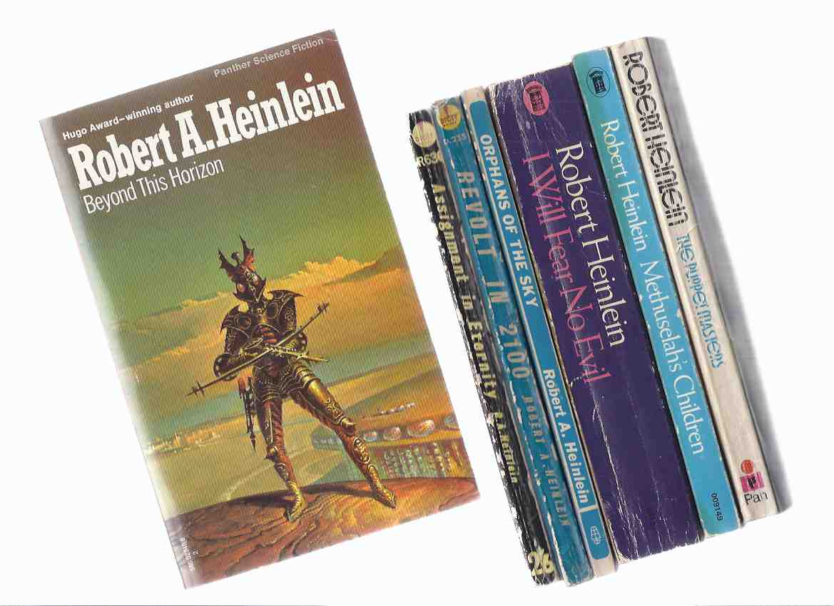 Image for SEVEN VOLUMES: Assignment in Eternity; Revolt in 2100; Orphans of the Sky; I Will Fear No Evil; Methuselah's Children; Puppet Masters; Beyond This Horizon --- Robert Heinlein