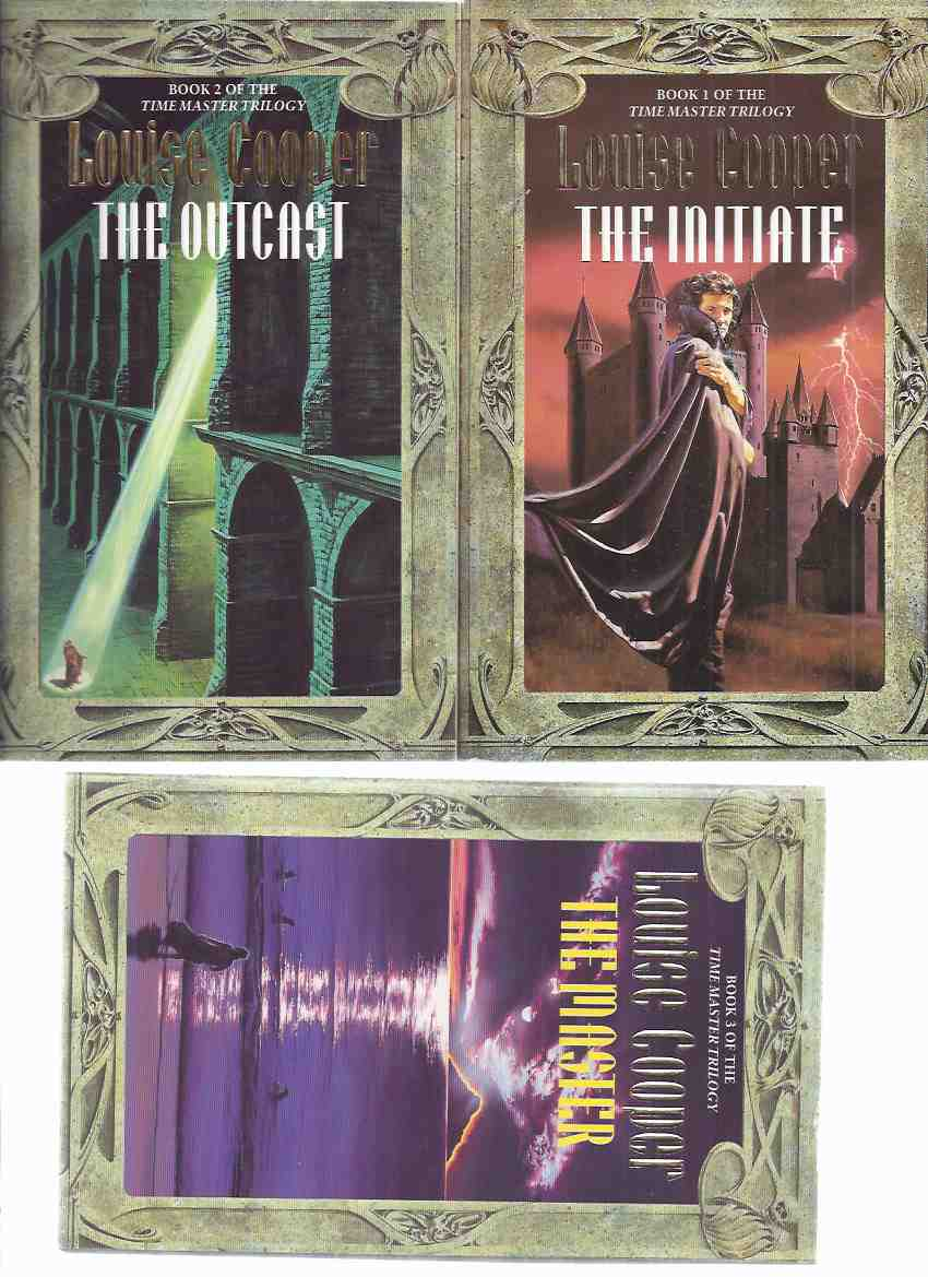 Image for LOUISE COOPER:  The Time Master Trilogy, comprising: The Initiate ---with The Outcast ---with The Master, -Book 1, 2 and 3 ( three volumes)( i, ii, ii )( Time Master series)