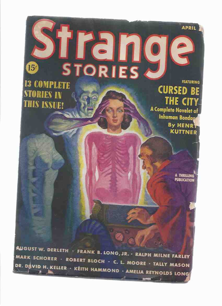 Image for Strange Stories Pulp magazine, Volume 1, # 2, April 1939 ( Logoda's Heads; Cursed be the City; Lord of Evil; Box from the Stars; Creeper in Darkness; Bells of Horror, etc)