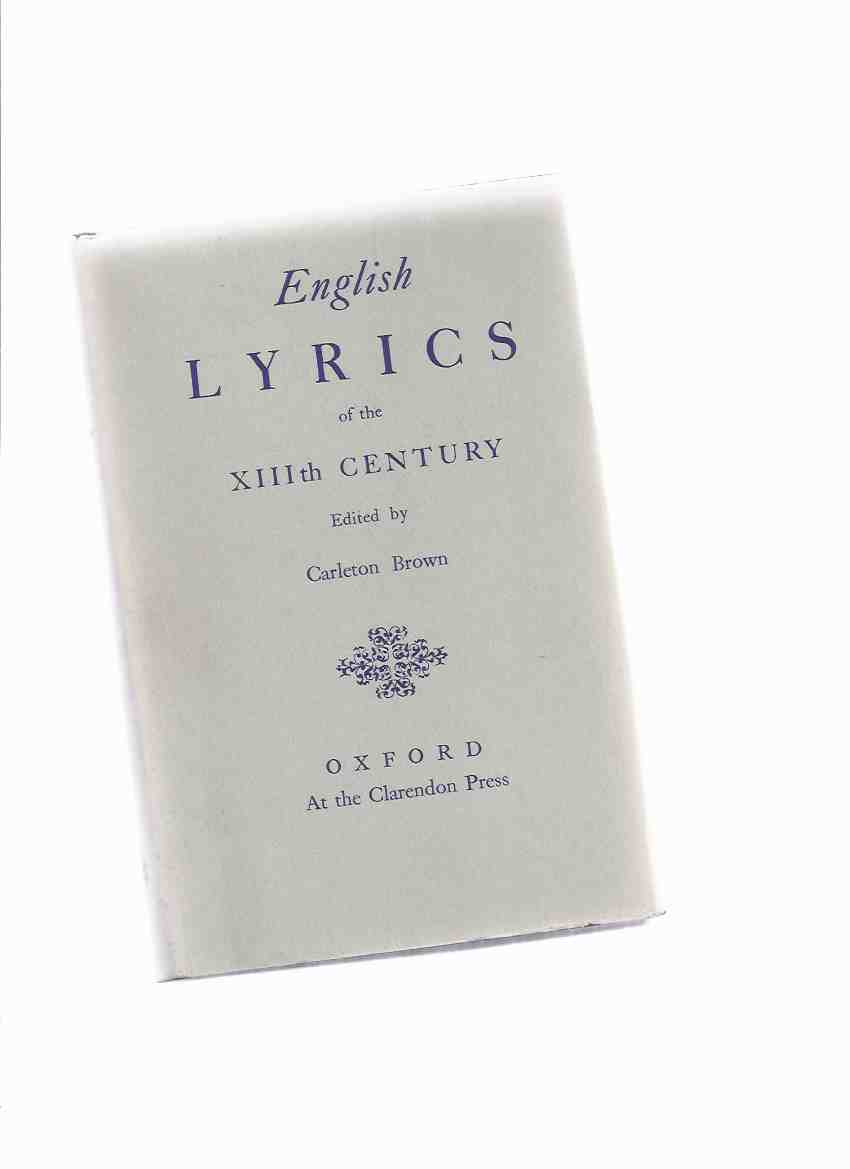 Image for English Lyrics of the XIIIth Century ( 13th C. / Poetry / Poems )