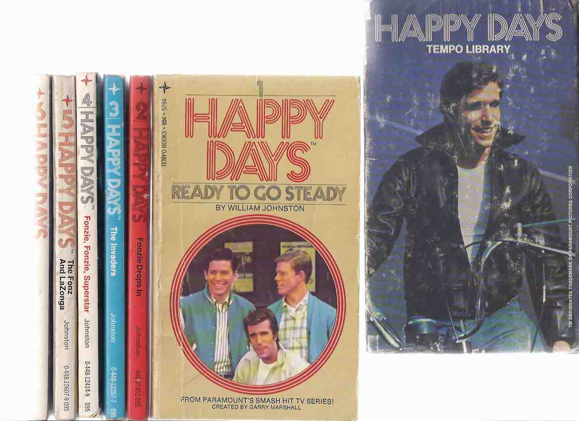 Image for Happy Days Boxed Set:  Ready to go Steady; Fonzie Drops In; The Invaders; Fonzie, Fonzie Superstar; The Fonz and LaZonga; The Bike Tycoon -SIX Volumes -Books 1, 2, 3, 4, 5, 6 ( Slipcased / Box / Slipcase Set )