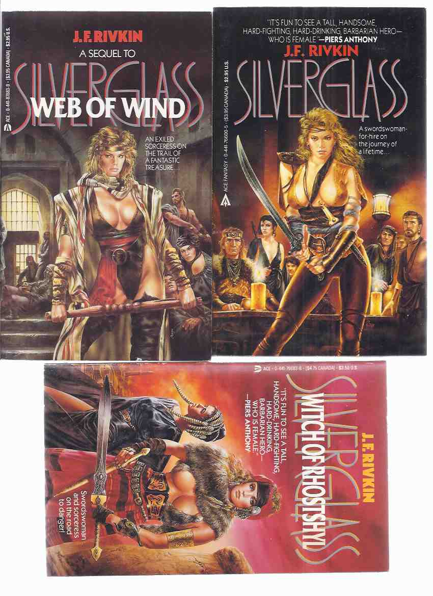 Image for Silverglass ---with Web of Wind ---with Witch of Rhostshyl ---book 1, 2 and 3 of the Series By J F Rivkin -THREE VOLUMES -all Signed
