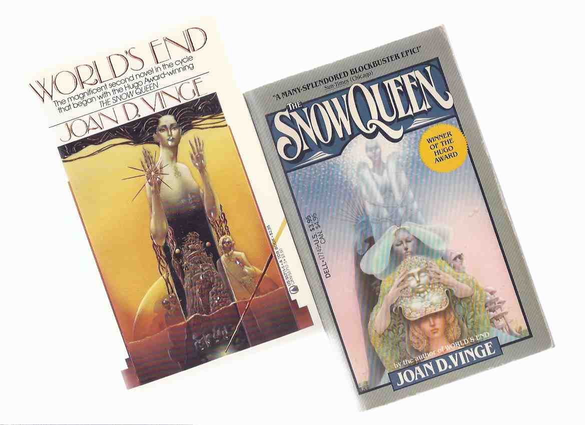 Image for The Snow Queen ---with World's End -Books 1 and 2 of the Snow Queen Series -by Joan D Vinge (one signed) ---TWO VOLUMES