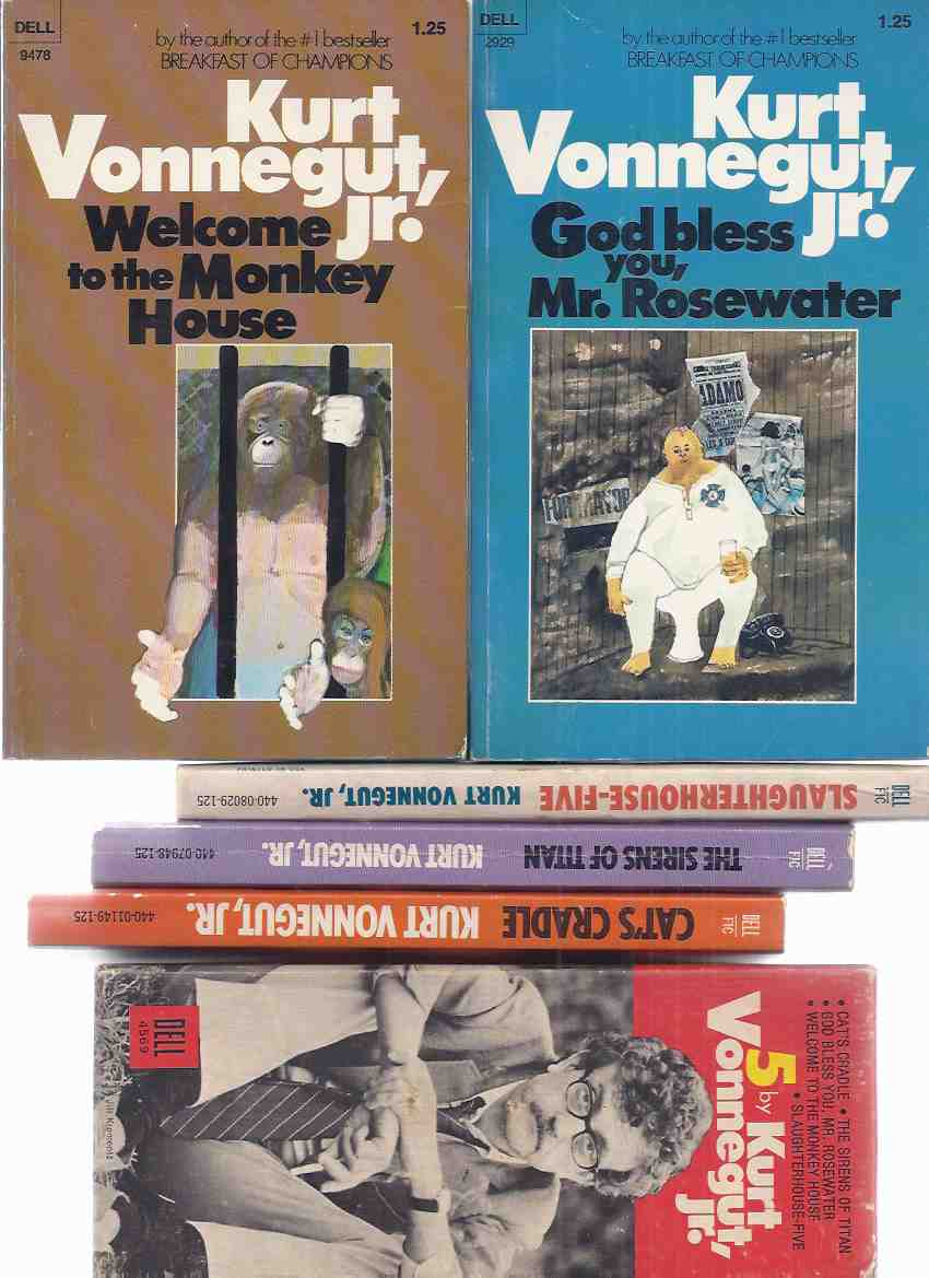 Image for 5 By Vonnegut:  Slaughterhouse Five ---with The Sirens of Titan ---with Welcome to the Monkey House ---with God Bless You Mr Rosewater ---with Cat's Cradle ---5 Volumes in a Slipcase ( Slipcased / Boxed Set ) ( Kurt )