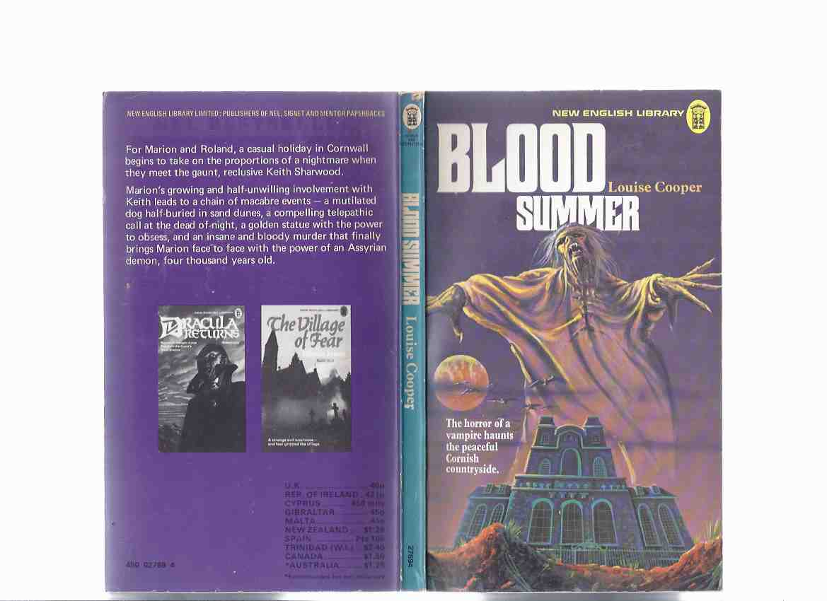 Image for Blood Summer ---a Keith Sharwood Novel  ---by Louise Cooper