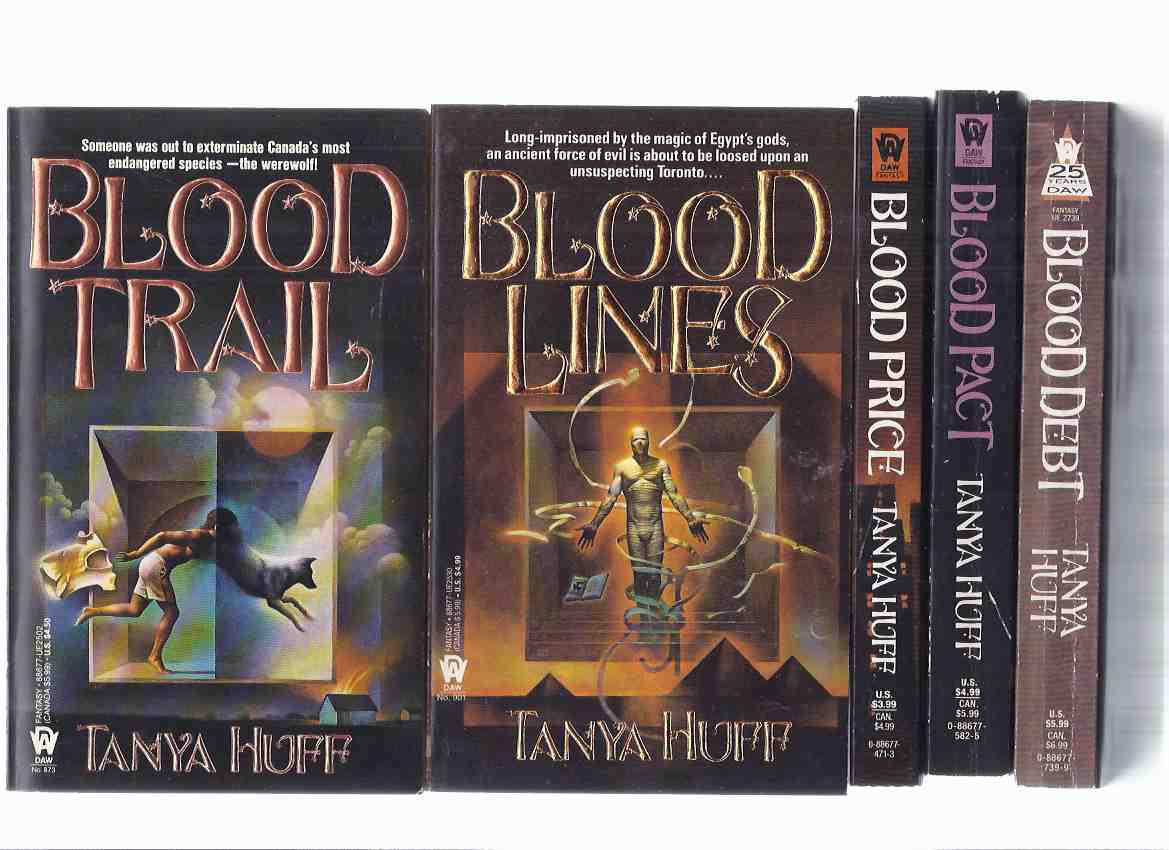 Image for 5 Volumes --- Blood Price ---with Blood Trail ---with Blood Lines ---with Blood Pact ---with Blood Debt ---book 1, 2, 3, 4, 5 --- the Victoria Nelson Series (basis for the TV Series Blood Ties ) -by Tanya Huff