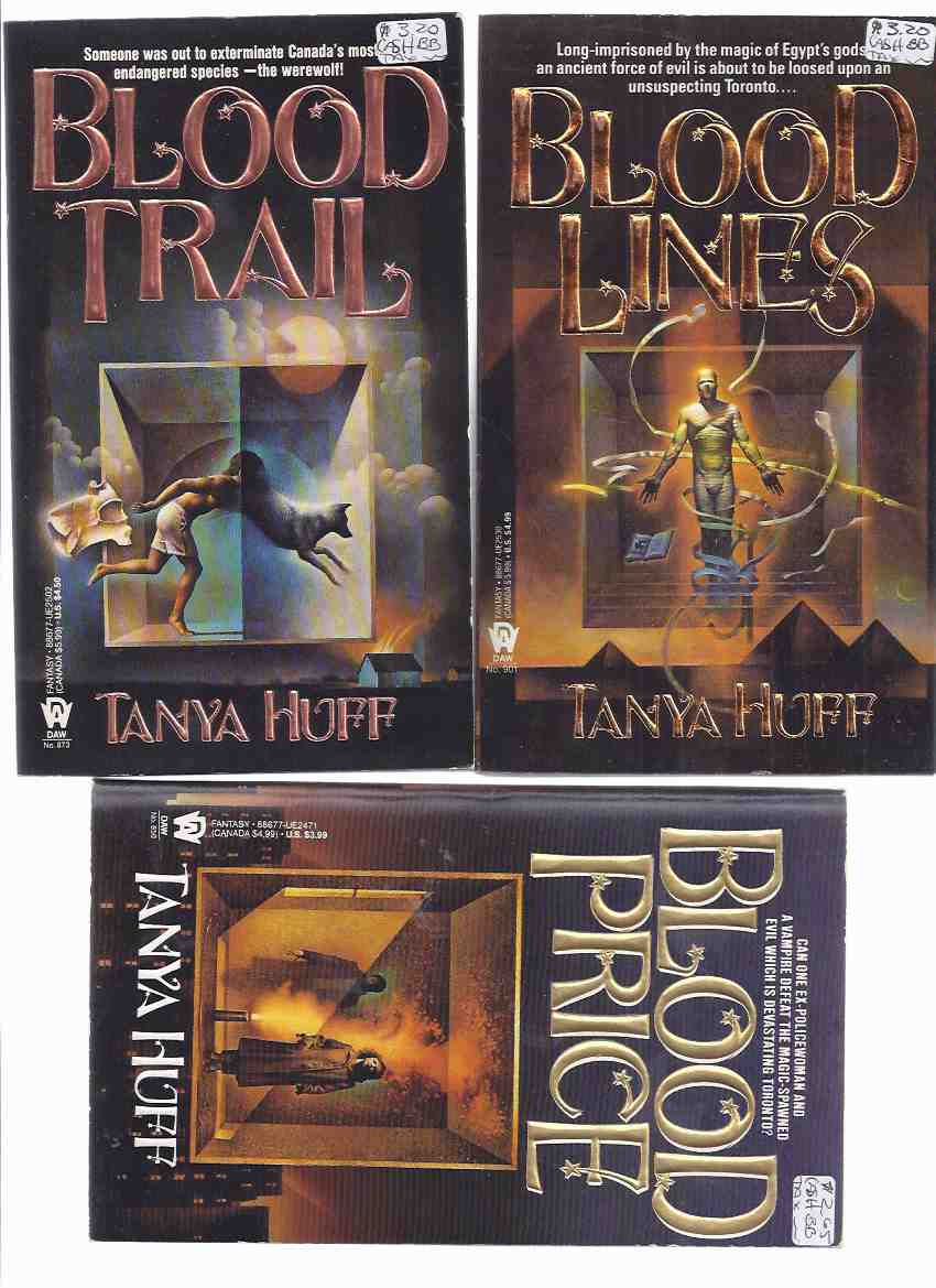 Image for 5 Volumes ---Blood Price ---with Blood Trail ---with Blood Lines ---with Blood Pact ---with Blood Debt ---book 1, 2, 3, 4, 5 --- the Victoria Nelson Series -by Tanya Huff (basis for the TV Series Blood Ties )  ( Signed )