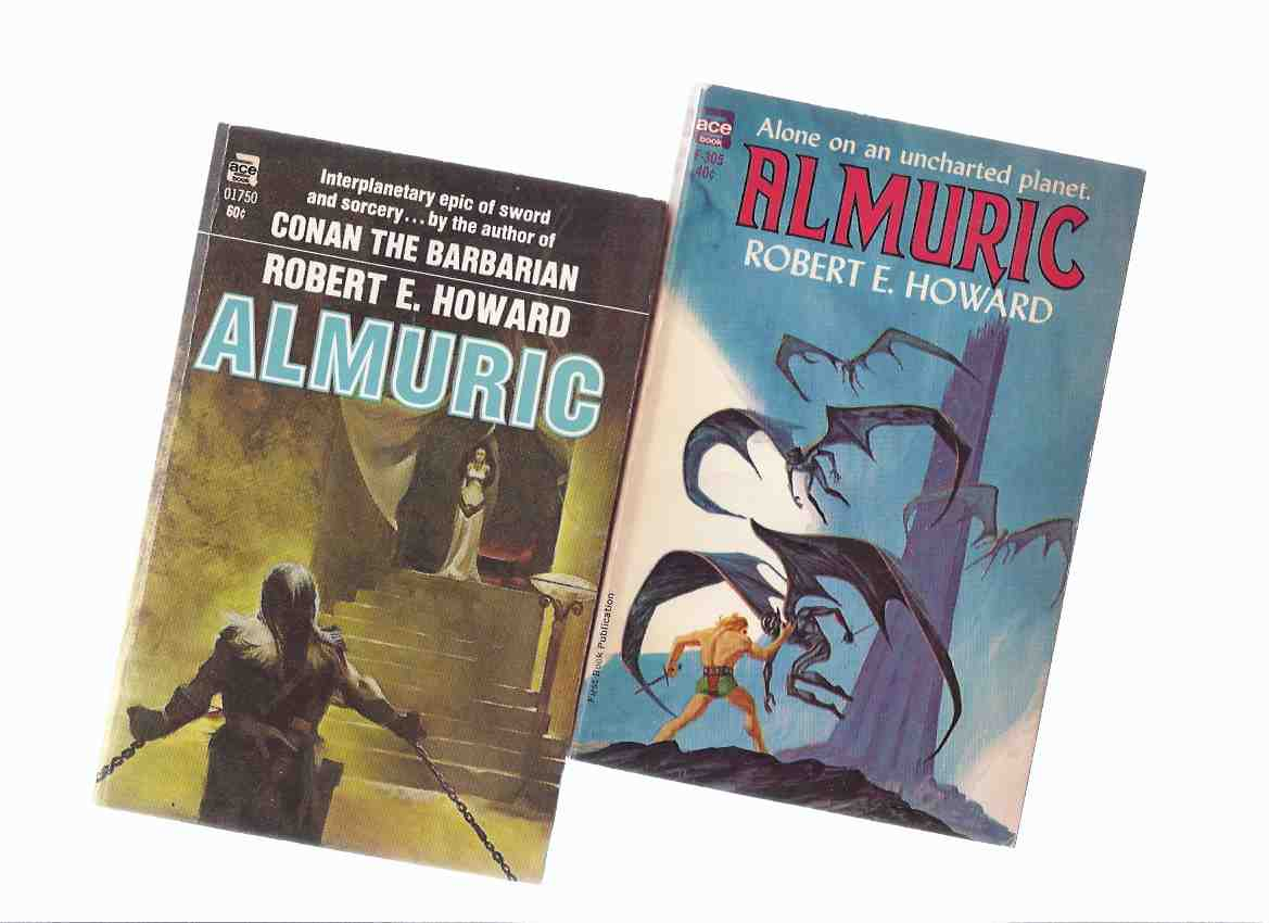 Image for Almuric  -by Robert E Howard ( two ACE Editions )