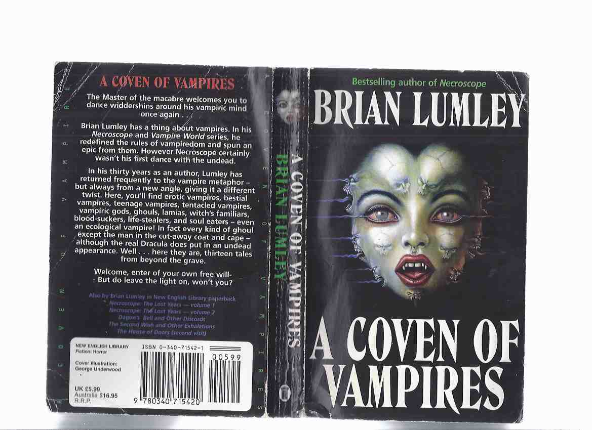 Image for A Coven of Vampires -by Brian Lumley ( What Dark God; Back Row; Strange Years; Kiss of the Lamia; Recognition; Thief Immortal; Necros; Thing from the Blasted Heath; Uzzi; Picnickers; Zack Phalanx is Vlad the Impaler; House of the Temple )