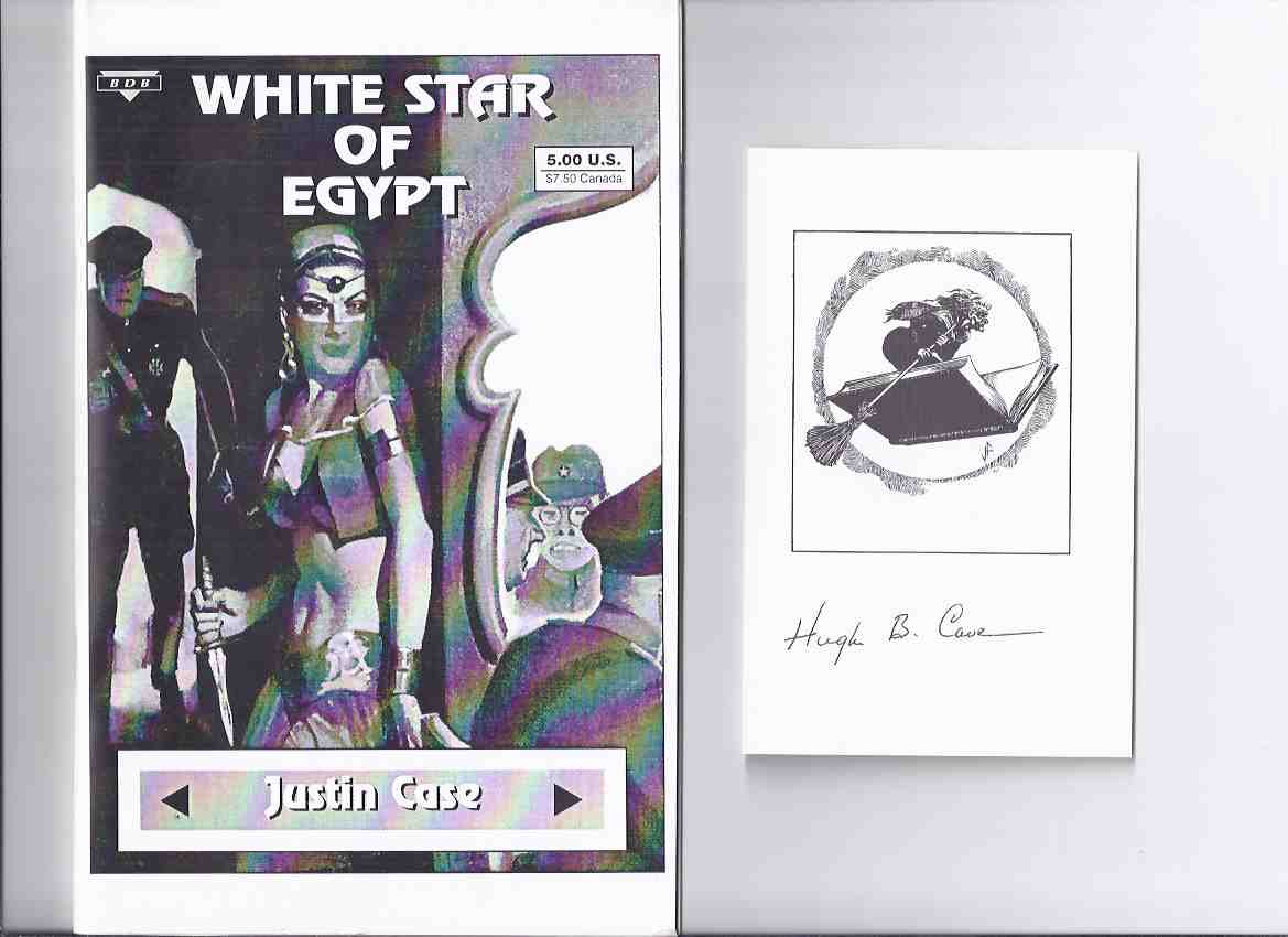 Image for White Star of Egypt -by Justin Case / Hugh B Cave ( Contains White Star of Egypt and The Yellow Horde ) ( Taken from Spicy Adventure Stories Pulp ) ---a signed Copy