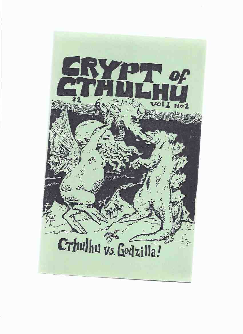 Image for Crypt of Cthulhu, Volume 1, # 2, Yuletide 1981:  Cthulhu vs. Godzilla  ---signed By Brian Lumley