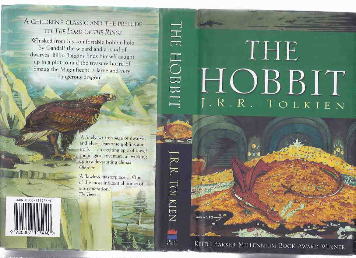 Image for The Hobbit, or There and Back Again ---by J R R Tolkien ( Smaug, the Dragon /and/ Great Eagle cover art )