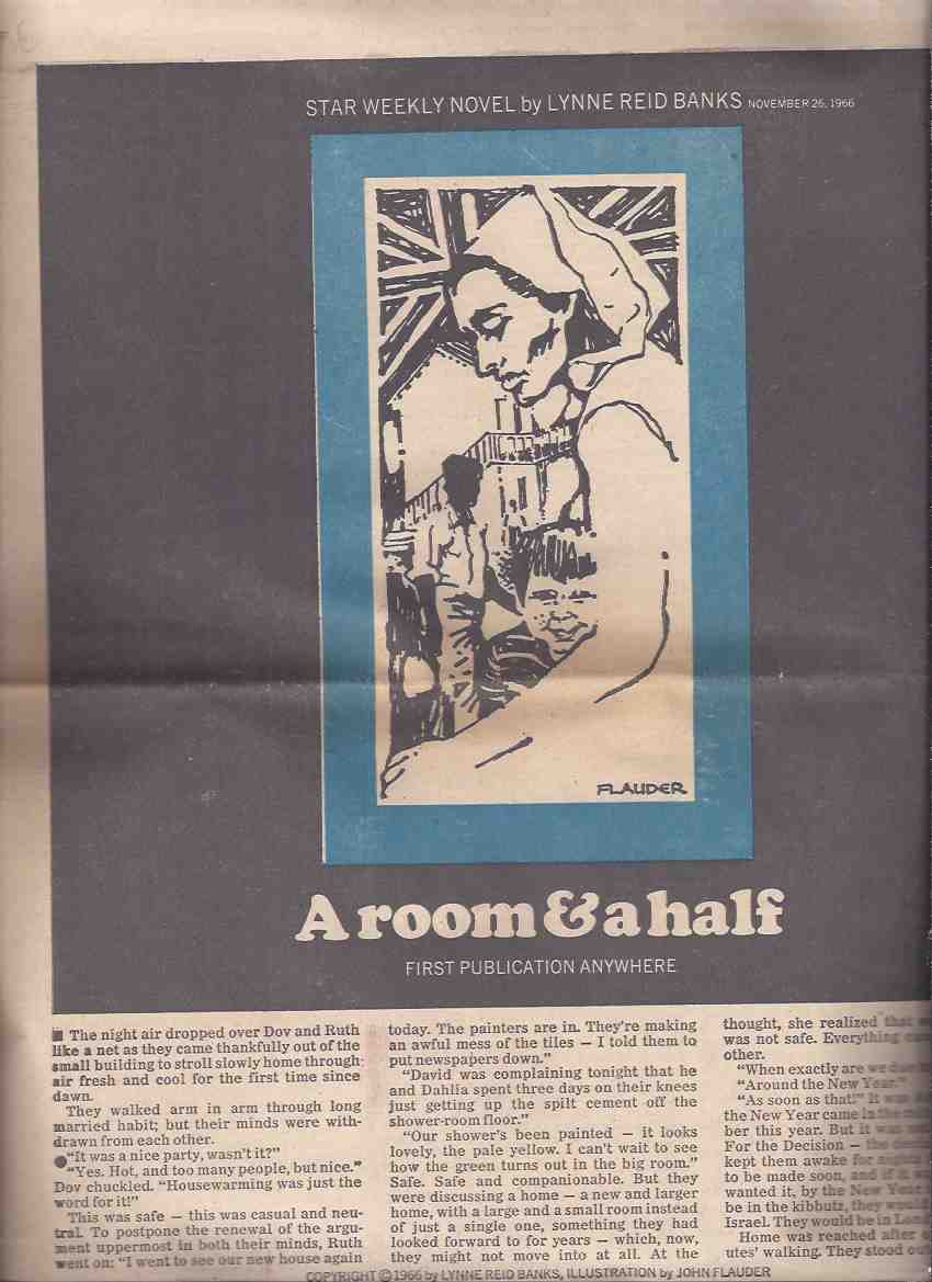 Image for A Room and a Half:  Toronto Star Weekly Novel, November 26, 1966