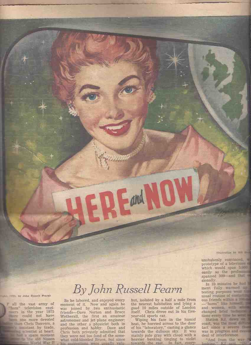 Image for Here and Now by John Russell Fearn:  Toronto Star Weekly Novel, April 2, 1955