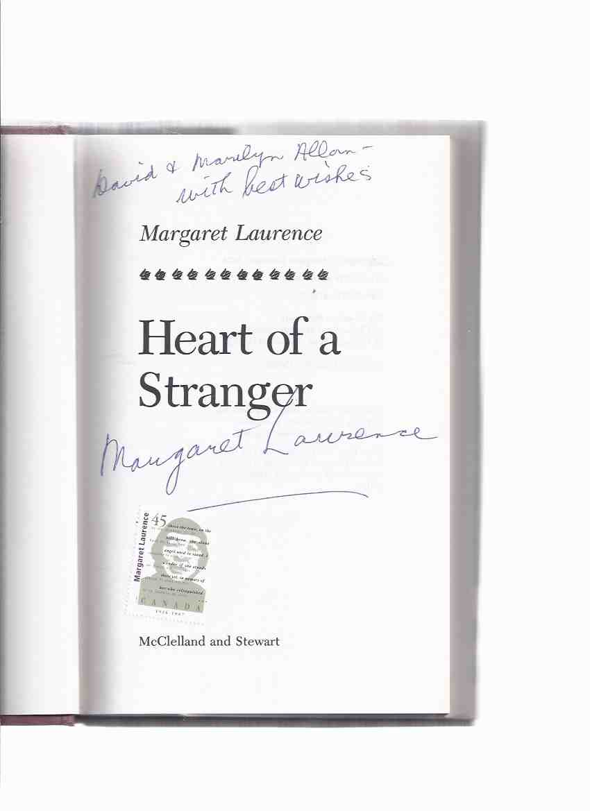 Image for Heart of a Stranger -by Margaret Laurence -a signed Copy ) a ML Canadian Postage Stamp laid-in)