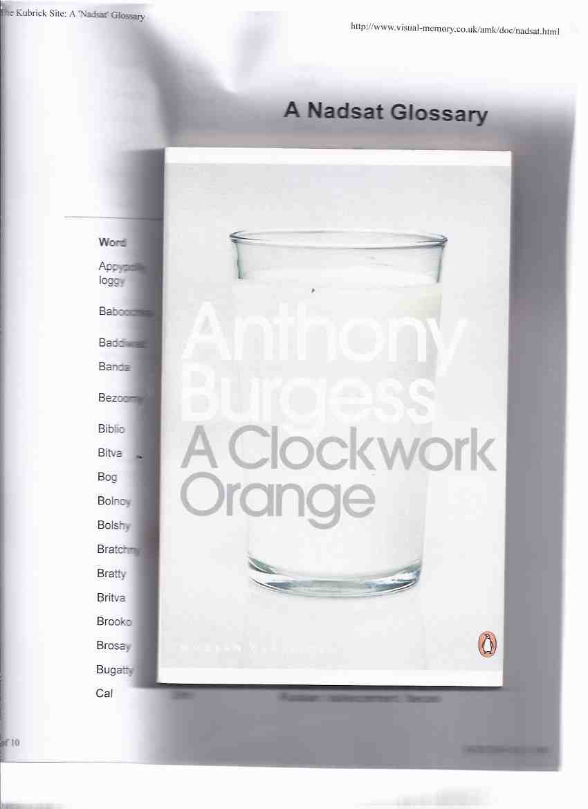 Image for A Clockwork Orange ---by Anthony Burgess --- Penguin Modern Classics  Series )(includes the 7th Chapter )(includes a GLOSSARY of the NADSAT Language )