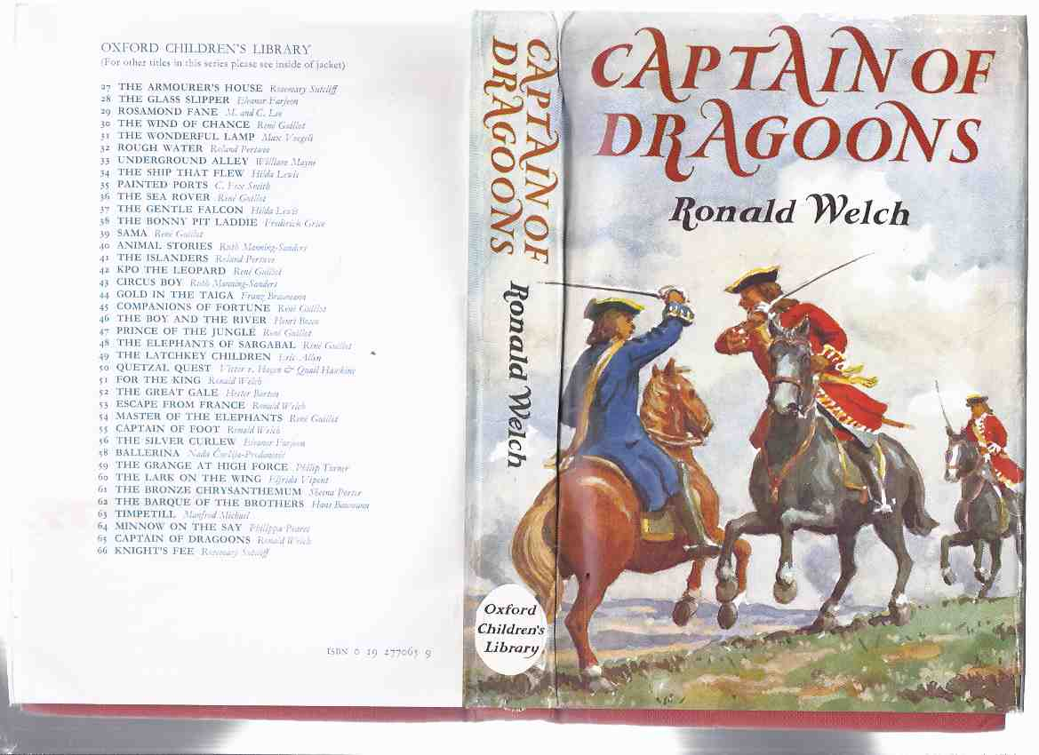 Image for Captain of Dragoons  -by Ronald Welch ( a Carey Family Novel )