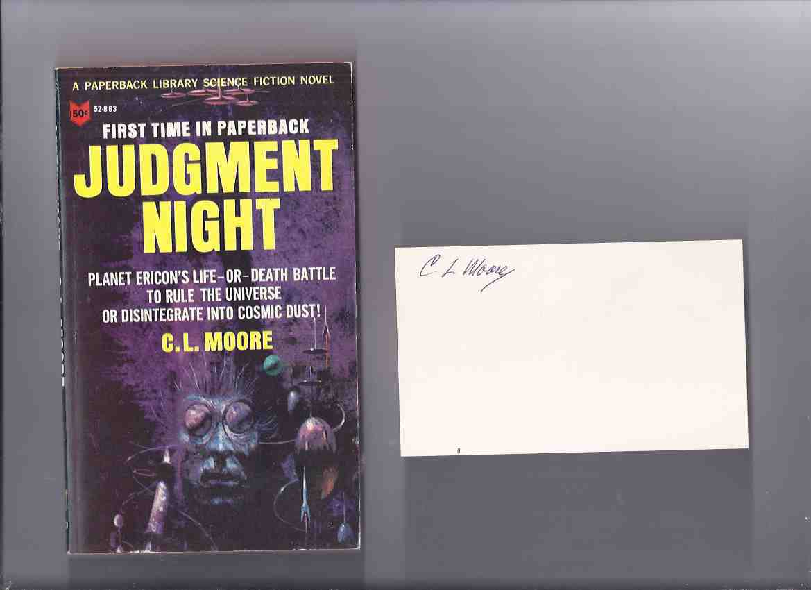 Image for Judgment Night -by C L Moore -Tipped-in Signature)