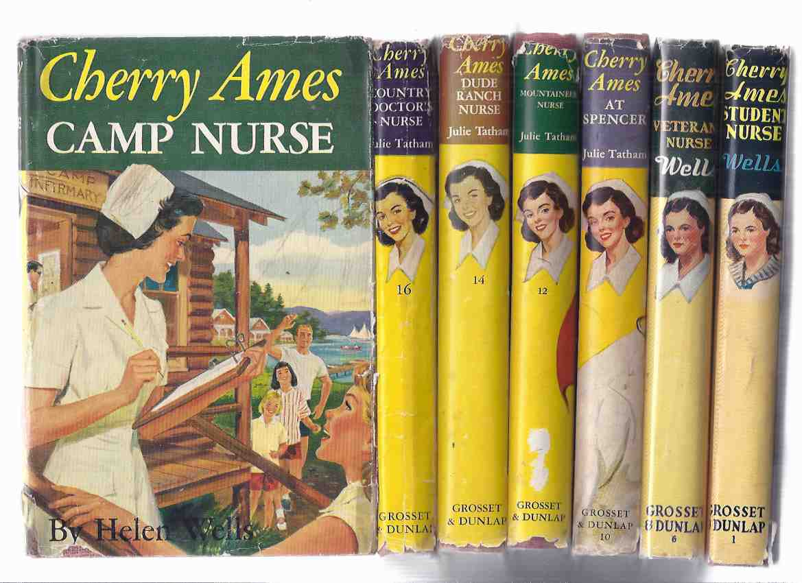 Image for 7 Volumes CHERRY AMES: Student Nurse; Veterans'; At Spencer; Mountaineer; Dude Ranch; Country Doctor's; Camp Nurse -Volume 1, 6, 10, 12, 14, 16, 19 -by Helen Wells / Julie Tatham ( Veterans )