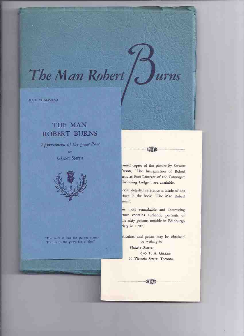 Image for The Man Robert Burns 1759 - 1796 ---with Inserts
