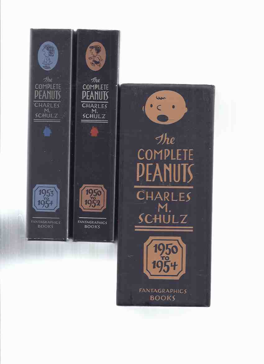 Image for Charles M Schulz:  Complete PEANUTS, 1950 to 1952 / 1953 to 1954 -a slipcased set, The Definitive Collection of Charles M Schulz's Comic Strip Masterpiece -Volume 1 & 2 ( Charlie Brown / Snoopy / Lucy, et al )( Book One /Two )( Boxed / Box / Slipcase )