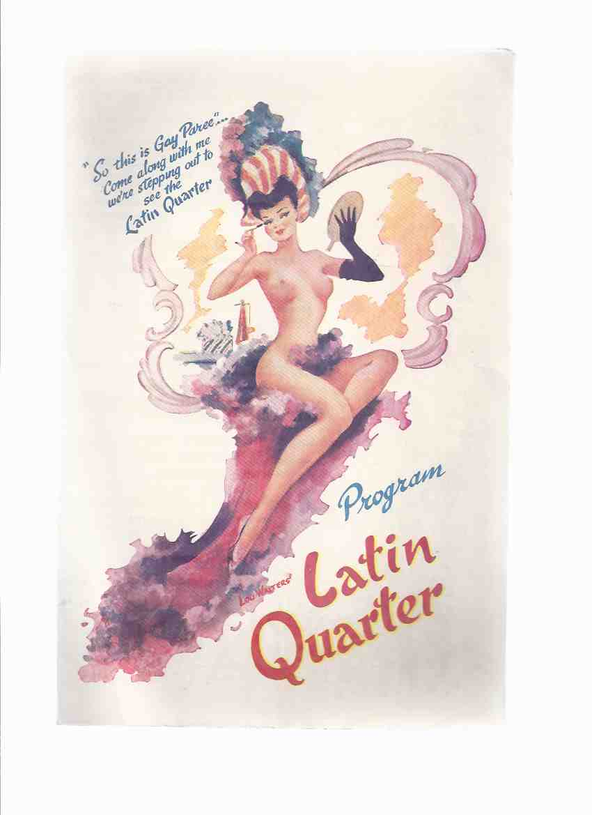 Image for Lou Walters LATIN QUARTER Restaurant Program --- New York Theatre Restaurant 1949 - Mardi Gras De Paree ( Theater )