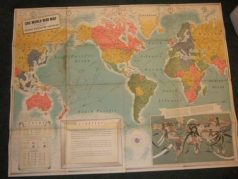Cbc radio canada canadian broadcasting corporation world war map image for cbc radio canada canadian broadcasting corporation world war map on mercators projection gumiabroncs Images