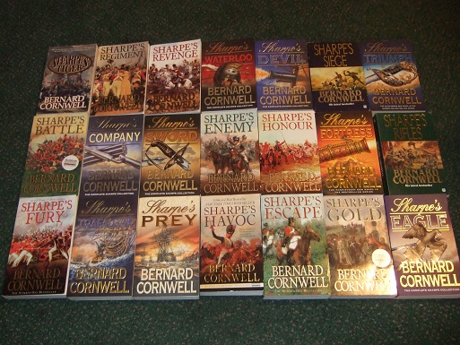 Image for 21 Volumes Richard Sharpe:  Sharpe's Tiger; Triumph; Fortress; Trafalgar; Prey; Rifles; Havoc; Eagle; Gold; Escape; Fury; Battle; Company; Sword; Enemy; Honour; Regiment; Siege; Revenge; Waterloo; Devil -TWENTY-ONE BOOKS By Bernard Cornwell
