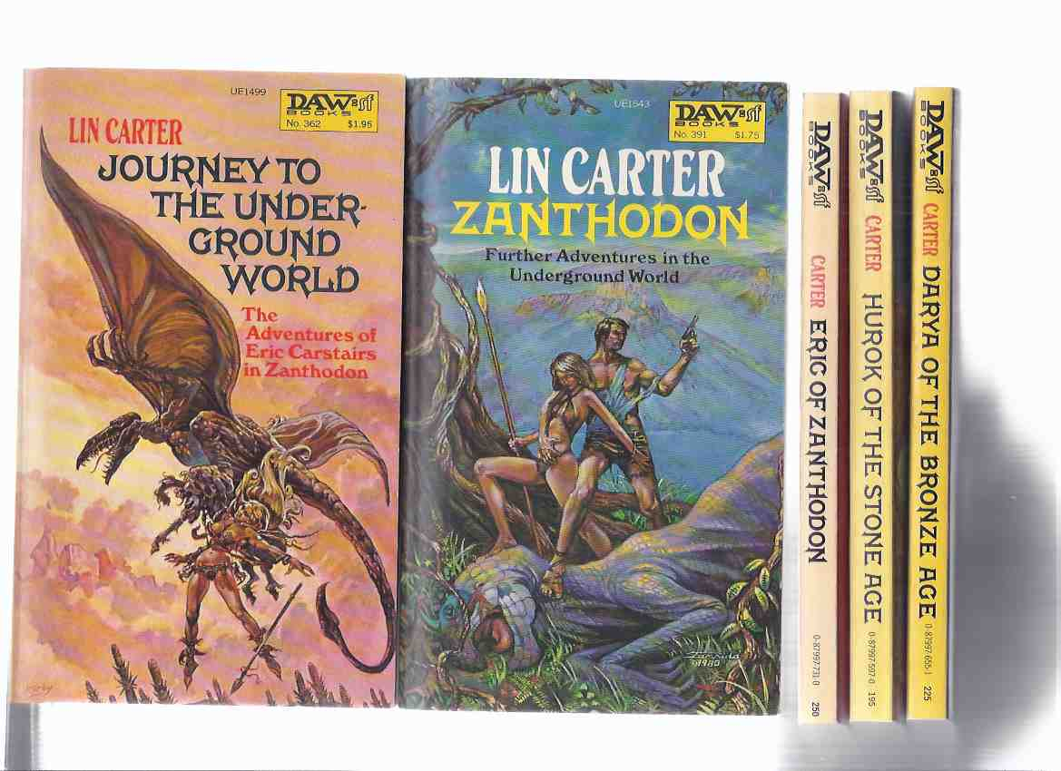 Image for Eric Carstairs:  Journey to the Underground World; Zanthodon; Darya of the Bronze Age; Hurok of the Stone Age; Eric of Zanthodon  ---book 1, 2, 3, 4, 5 of the Series ---by Lin Carter -FIVE VOLUMES