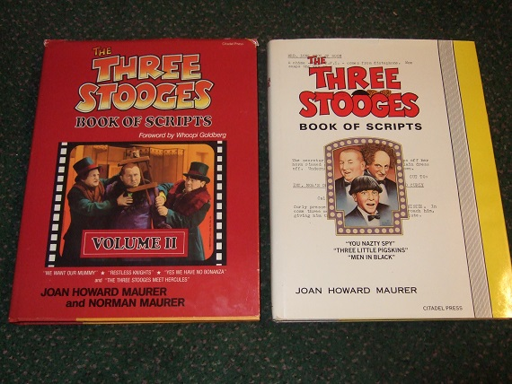 Image for The Three Stooges Book of Scripts, Volume I and II -TWO Books (inc.:  We Want Our Mummy; Restless Knights; Yes We Have No Bonanza; Meets Hercules; You Nazty Spy; Three Little Pigskins; Men in Black, Gents Without Cents ( Niagara Falls ) etc)( 1 / 2 )( 3 )