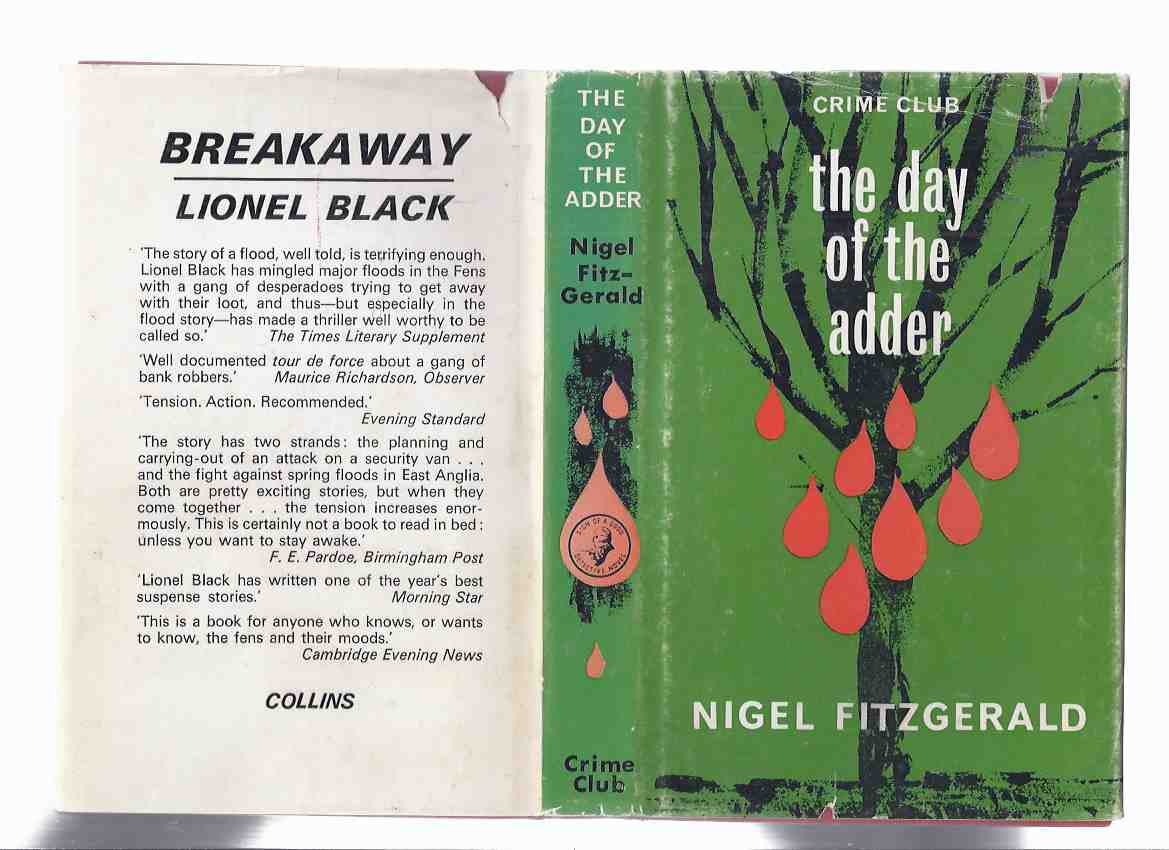 Image for The Day of the Adder -by Nigel Fitzgerald ( a Superintendent Duffy Irish Civic Guards mystery)( Collins Crime Club )