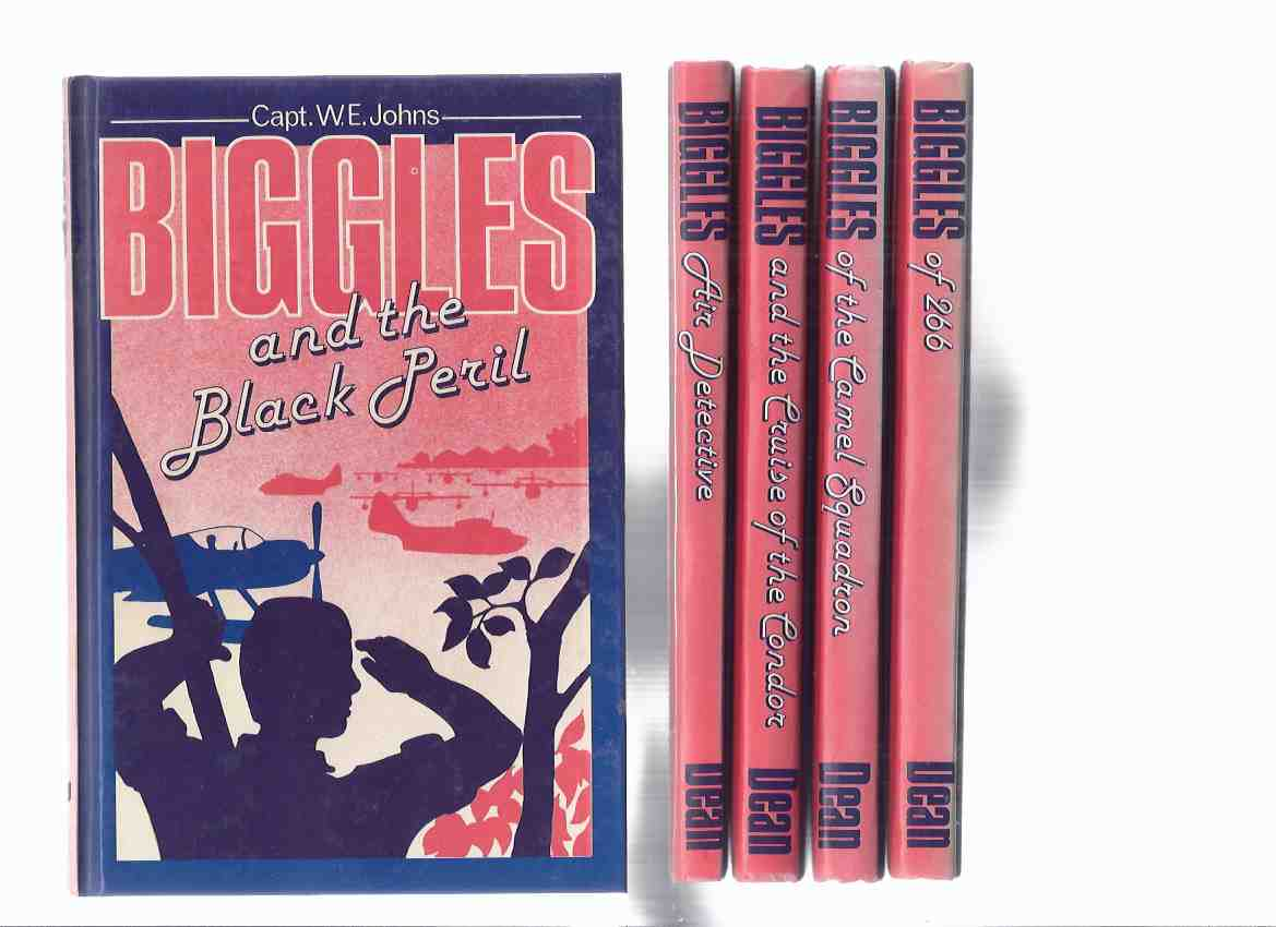 Image for 5 Biggles Books:  Air Detective; and the Cruise of the Condor; of the Camel Squadron; of 266; and the Black Peril -by Capt. W E Johns - FIVE VOLUMES ( Squadron Leader Bigglesworth )
