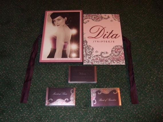 Image for DITA:  Stripteese -by Dita Von Teese ( Three Flip Books / Striptease Includes:  Bird of Paradise; Classic; and Martini Glass )( Strip Tease / Stripper )