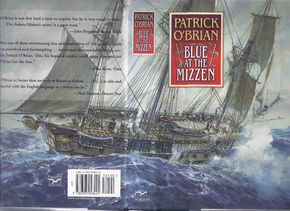 Image for Blue at the Mizzen ---a Jack Aubrey & Stephen Maturin Naval Adventure -by Patrick O'Brian