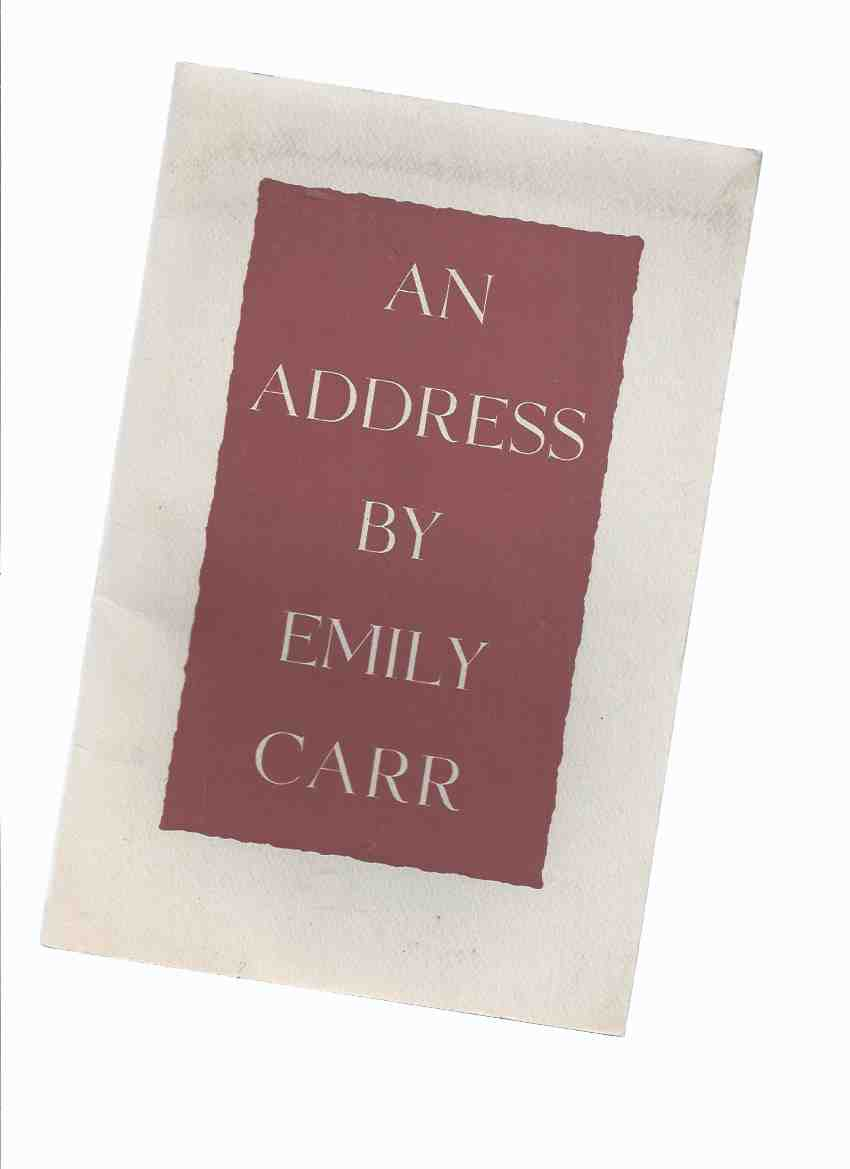 Image for An Address By Emily Carr