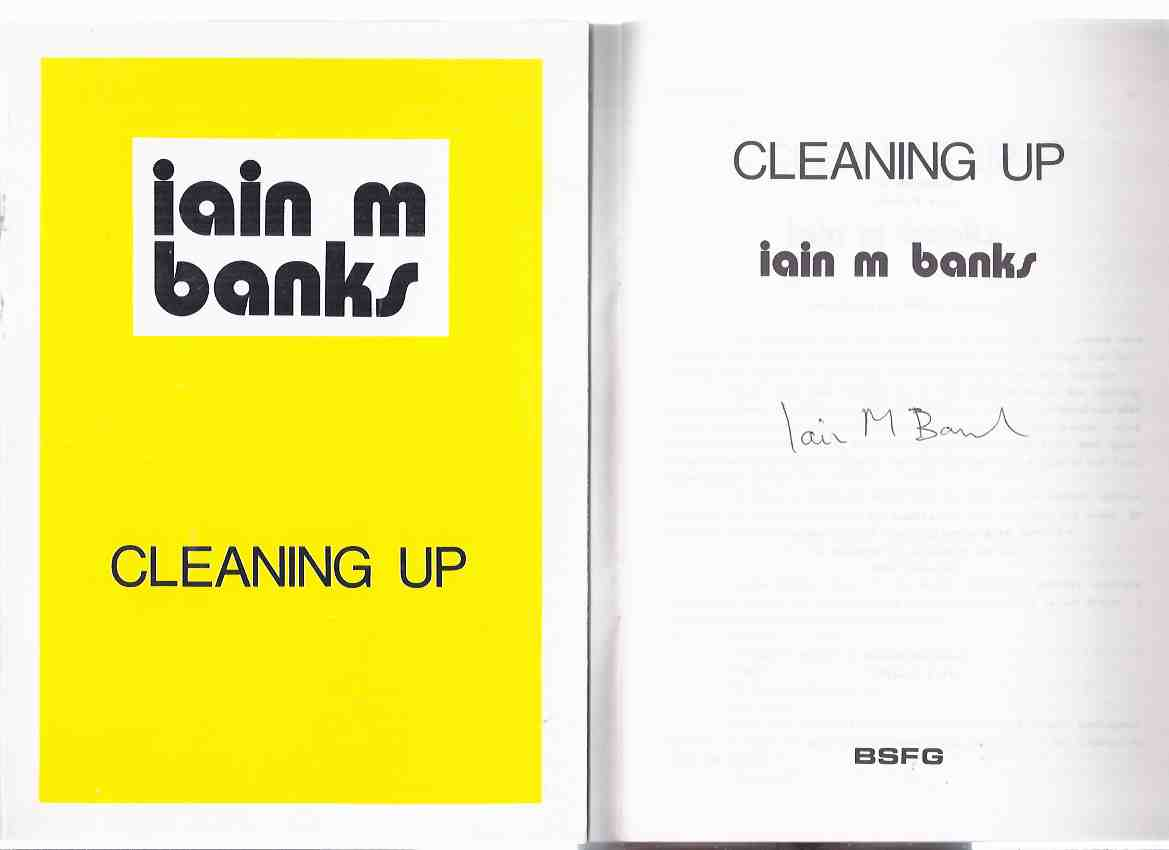 Image for Cleaning Up:  Birmingham Science Fiction Club / Novacon 17 ---by Iain M Banks ---a Signed Copy