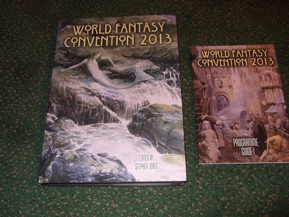 Image for FLOTSAM FANTASTIQUE:  Souvenir Book of the World Fantasy Convention 2013 (with Programme Guide -TWO Volumes )(inc.PRIDE;  THE MIDWIFE;  BRING ON THE BAD GUYS;  THE ASH-TREE; CITY OF NEW CROBUZON; FLYING TO BYZANTIUM; etc)