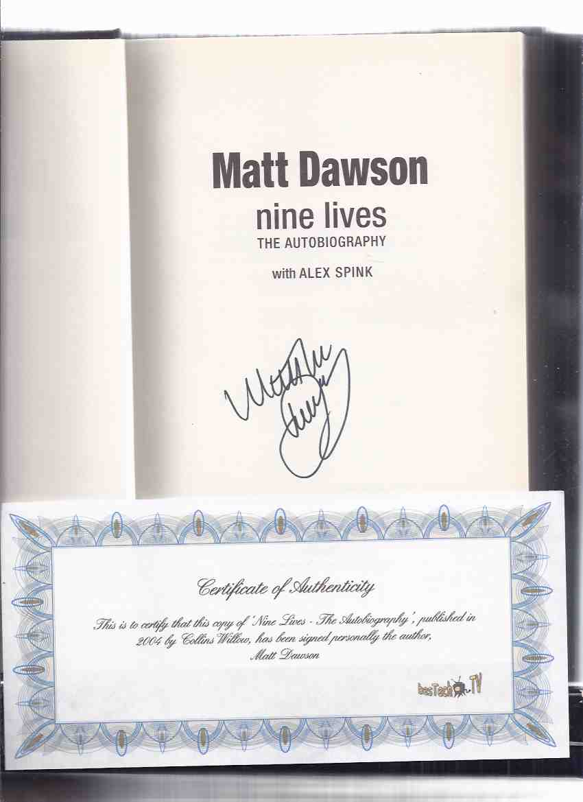 Image for Matt Dawson:  Nine Lives -The Autobiography -a Signed Copy )( Tour of Hell / Rugby World Cup / England / English Player )