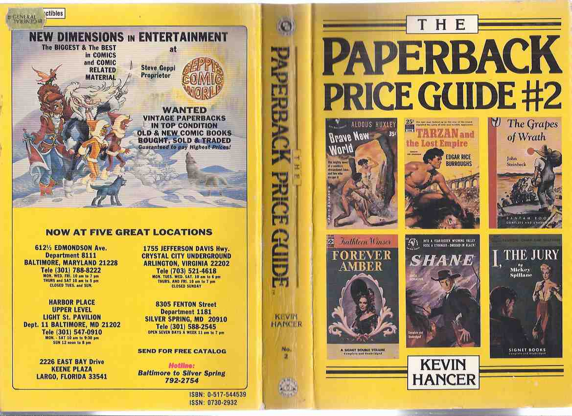 Image for The Paperback Price Guide # 2 -by Kevin Hancer  ( Vintage Paper Back Publishers Bibliography - 2nd / Second edition )