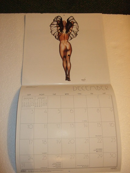 Image for Olivia 1995 Calendar ---with Let Them Eat Cheesecake, The Art of Olivia TIN SIGN ---with Stand-Up Cut-Out Figure ---THREE ITEMS / Ozone Productions