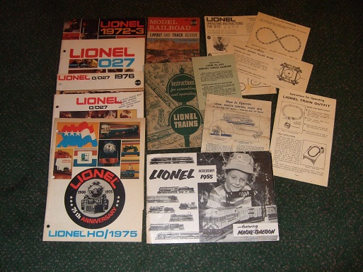 Image for LIONEL TRAINS Ephemera and Pamphlets and Catalogues -14 Items (includes:  Model Railroad Layout and Track Design from Spotlite books)