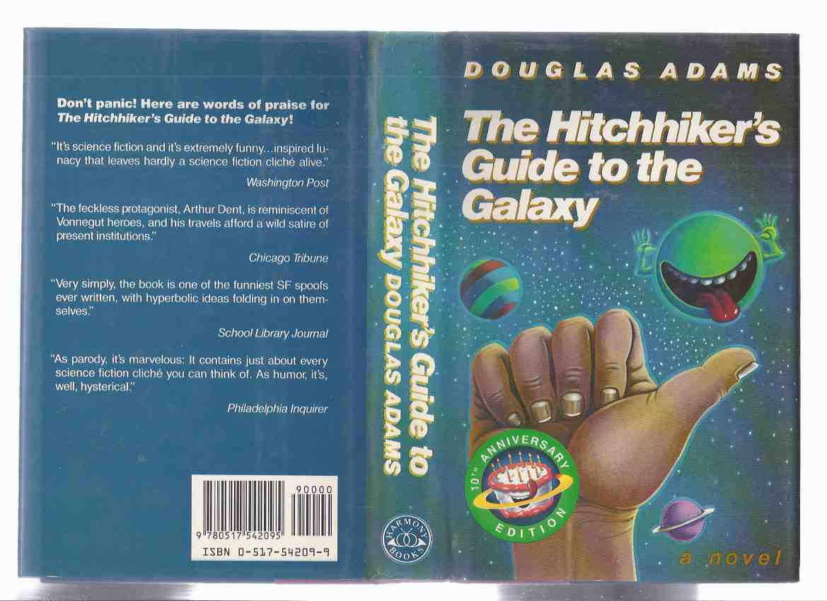 Image for The Hitchhiker's Guide to the Galaxy:  10th Anniversary Edition  ---by Douglas Adams ( Hitch-Hiker's / Hitch Hikers / Hitchhikers