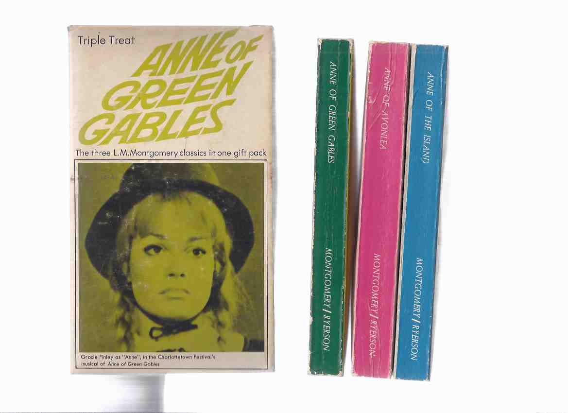 Image for Boxed / Slipcased Set of 3 ANNE BOOKS:  Anne of Green Gables; Anne of Avonlea; Anne of the Island -by L M Montgomery ( Slipcase / Box Has Photos from the 1969 Theatre Musical Starring Gracie Finley, Peter Mews, Jeff Hyslop, Barbara Hamilton )