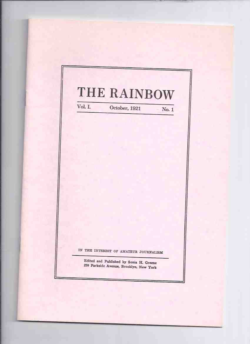 Image for The Rainbow, Volume 1, # 1 October 1921 / Necronomicon Press ( Facsimile Edition )(inc.  Nietzsche as a Practical Prophet; Philosophia; Nietschism and Realism; A Triumph in Eternity; Our Natupski Neighbors, etc)