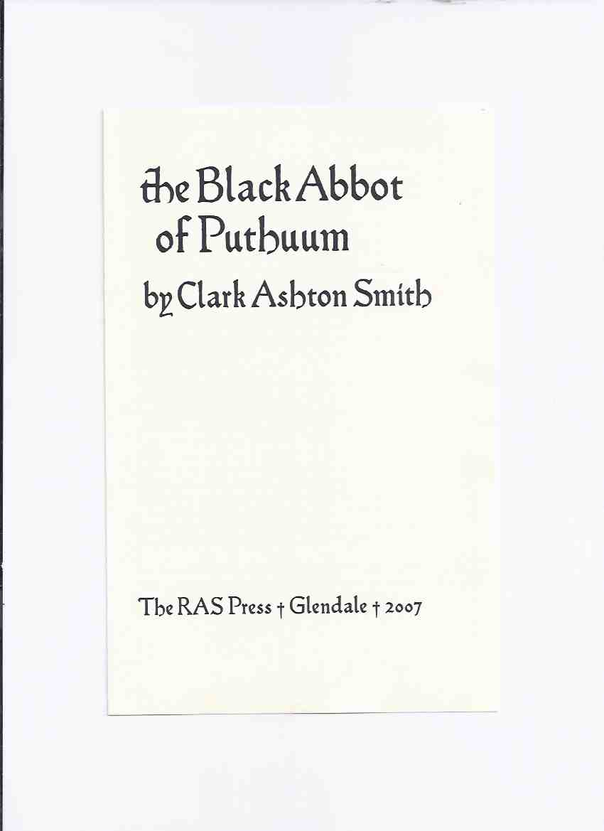 Image for Promotional Pamphlet from RAS PRESS ( Roy A Squires ) for The Black Abbot of Puthuum By Clark Ashton Smith