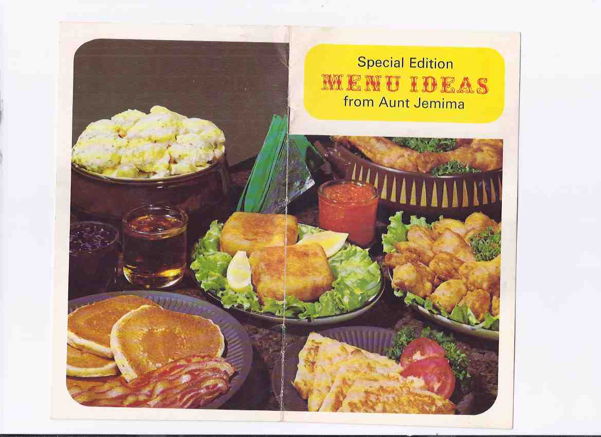 Image for Special Menu Ideas from Aunt Jemima / The Quaker Oats Company of Canada Limited ( AJ Pancake Mix ) ( Cookbook / Cook Book / Recipes )